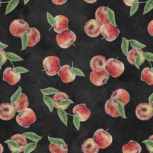 Rake & Bake Apples on Black
