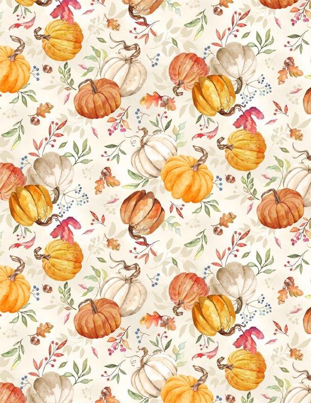 Autumn Day Pumpkins Toss Tan