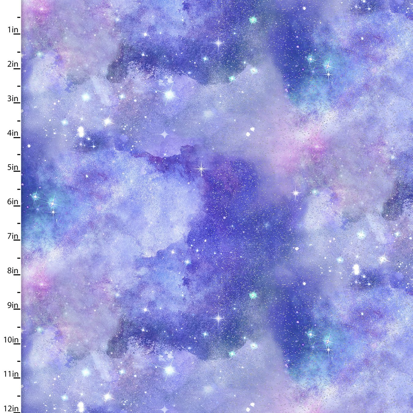Magical Galaxy Purple Sky Glitter