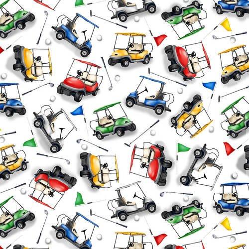 Back Nine Tossed Golf Carts
