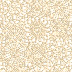 White/Tan Lace