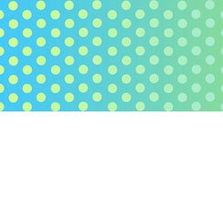 Party like a Unicorn Ombre Dots Blue/Green