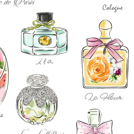 Amour De Fleur Perfume Bottles White