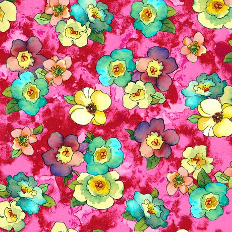 Rosalyn Packed Floral Pink