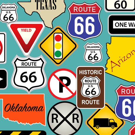 This & That II Route 66 Road Signs Turquoise