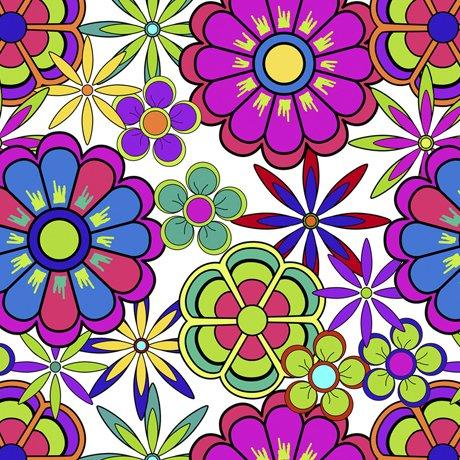 Color Me Chameleon Flowers White