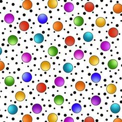 Alpha Doodle Dots White