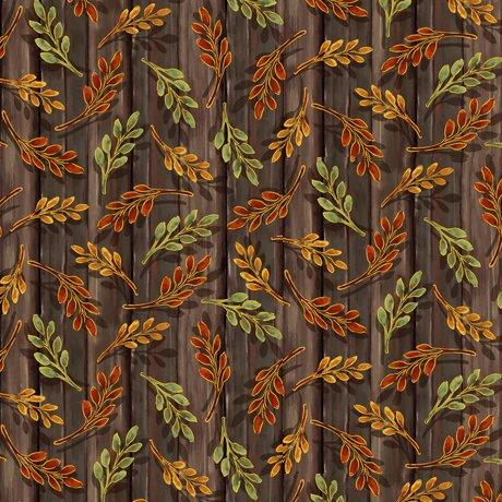 Harvest Elegance Leaf Sprigs Brown