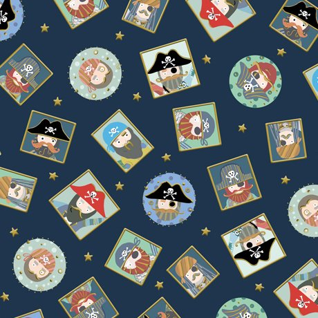 Arrr Mateys Pirate Patches Midnight