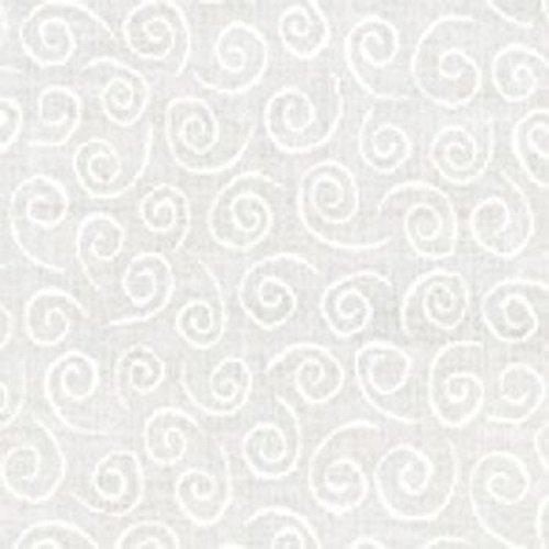 Muslin Mate Swirls White