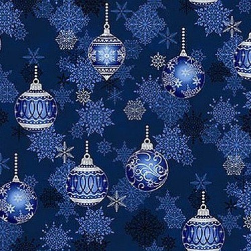It's Snowflake Ornaments on Blue