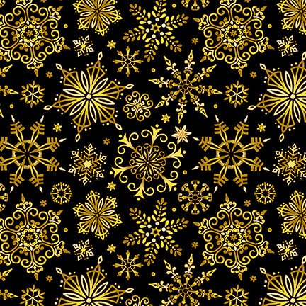 Christmas Joy Black and Gold