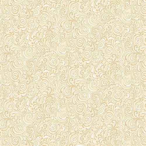 Cream & Sugar IX Beige Scroll