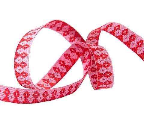 Ribbon Hot Pink Wanderer 3/8