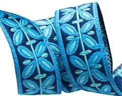 Ribbon Blue Filigree 5/8