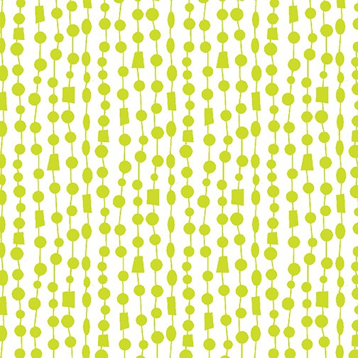Beaded Curtain Lime/White