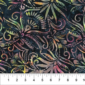 Coloring Book Cotton Batik Navy