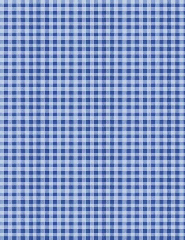 Berry Best Blue Gingham