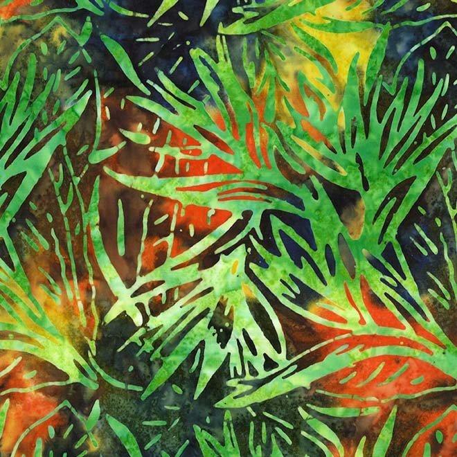Palm Bloom Batik Limeade