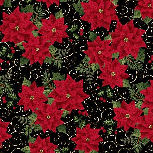 Charm Holiday Charming Poinsettia Black
