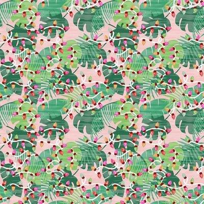 Flamingo Christmas Block Stripe