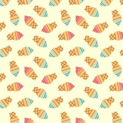 Food Truck Ice Cream Cone on Ecru