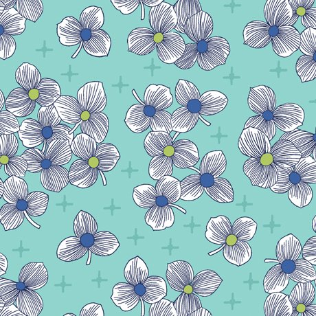 Lexi Floral Light Aqua