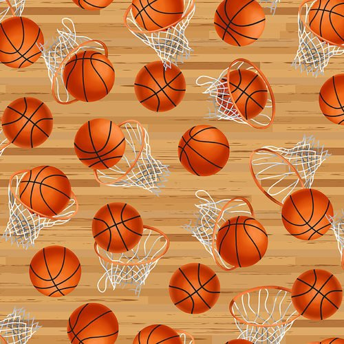 Love of the Game with Hoops and Basketballs