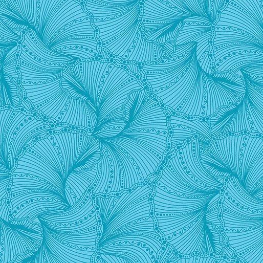 Peacock Flourish Fanfare Teal