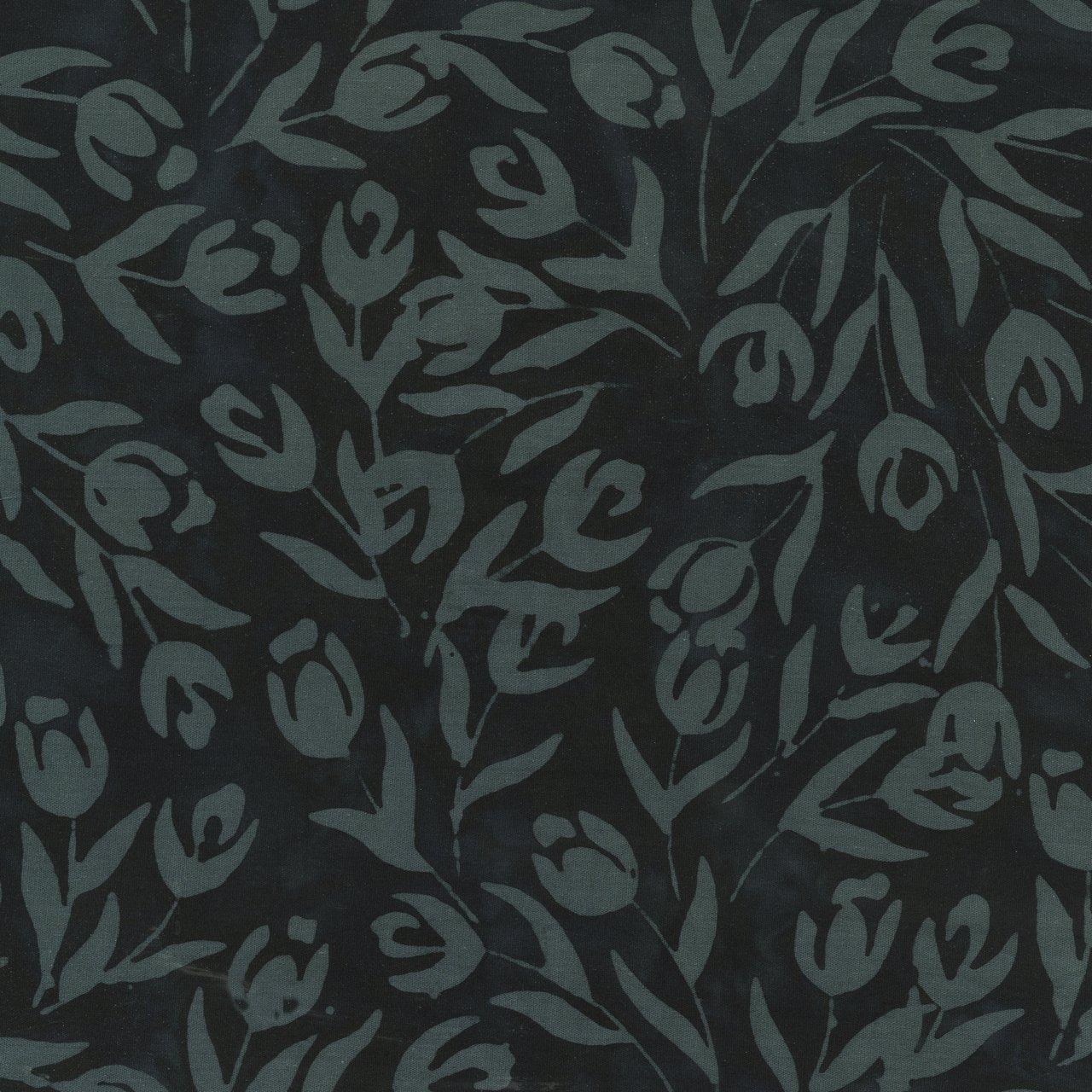 Quiltessentials Tulips Black