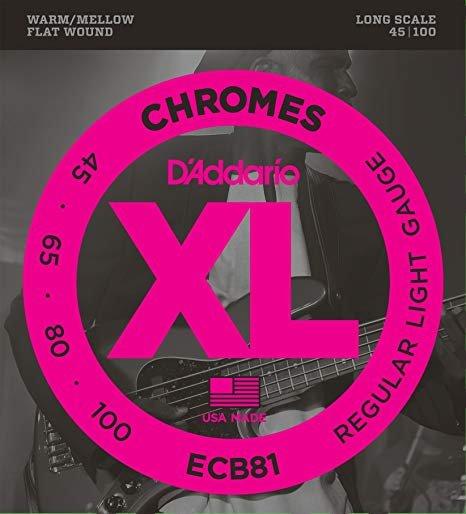 D'Addario Chromes XL ECB81 Regular Light Gauge