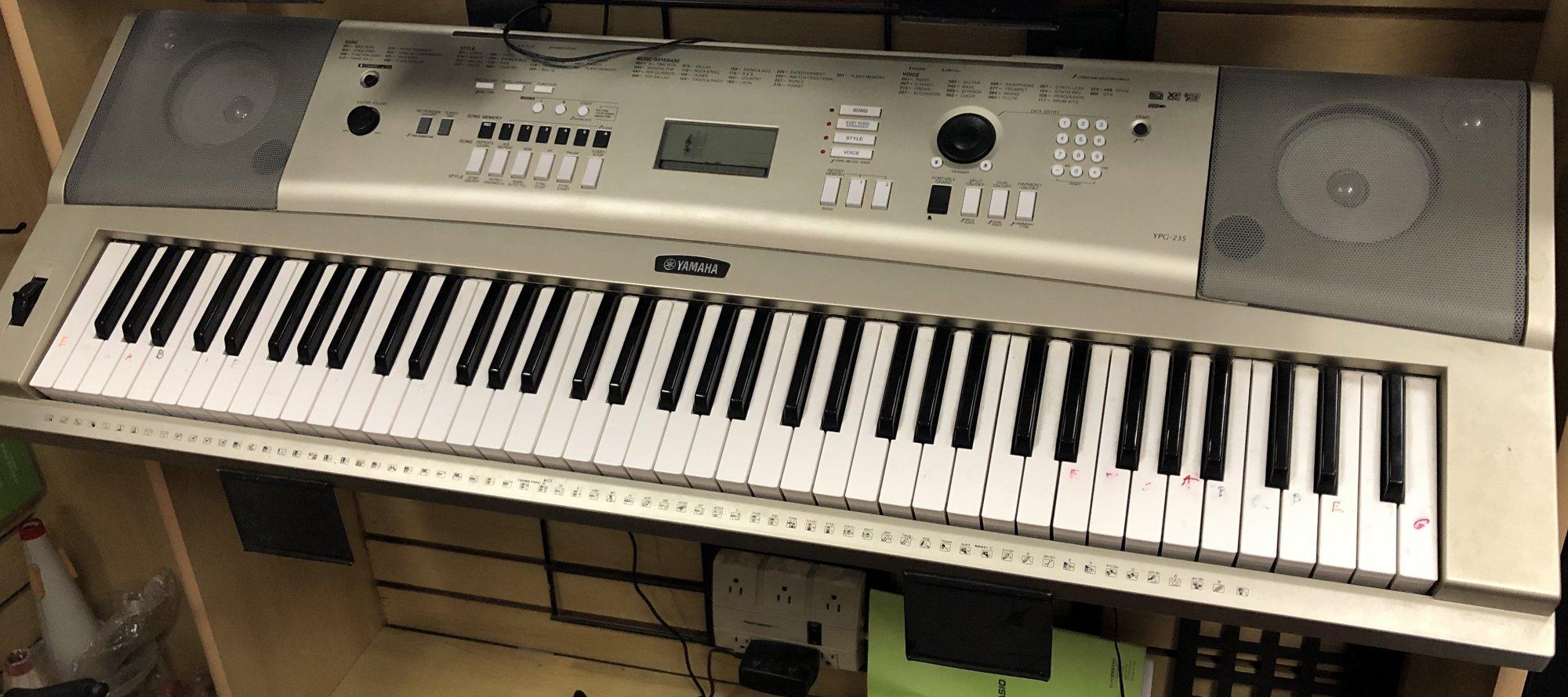 Yamaha YPG235 Used Keyboard