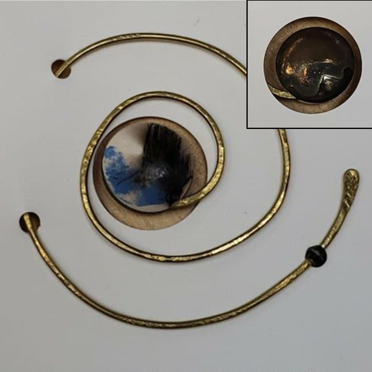 Double Sided Spiral Shawl Pin