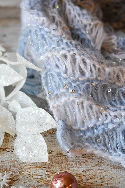 Icicles Shawl Kit - Day 6