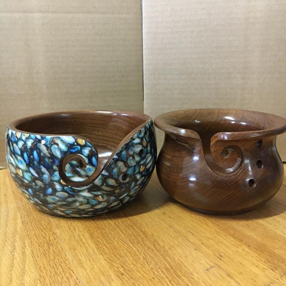 Sheesham Wood Yarn Bowls