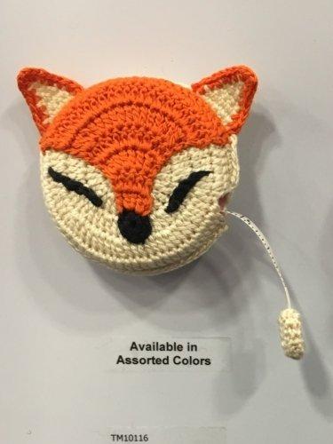 Crocheted Fox Tape Measure