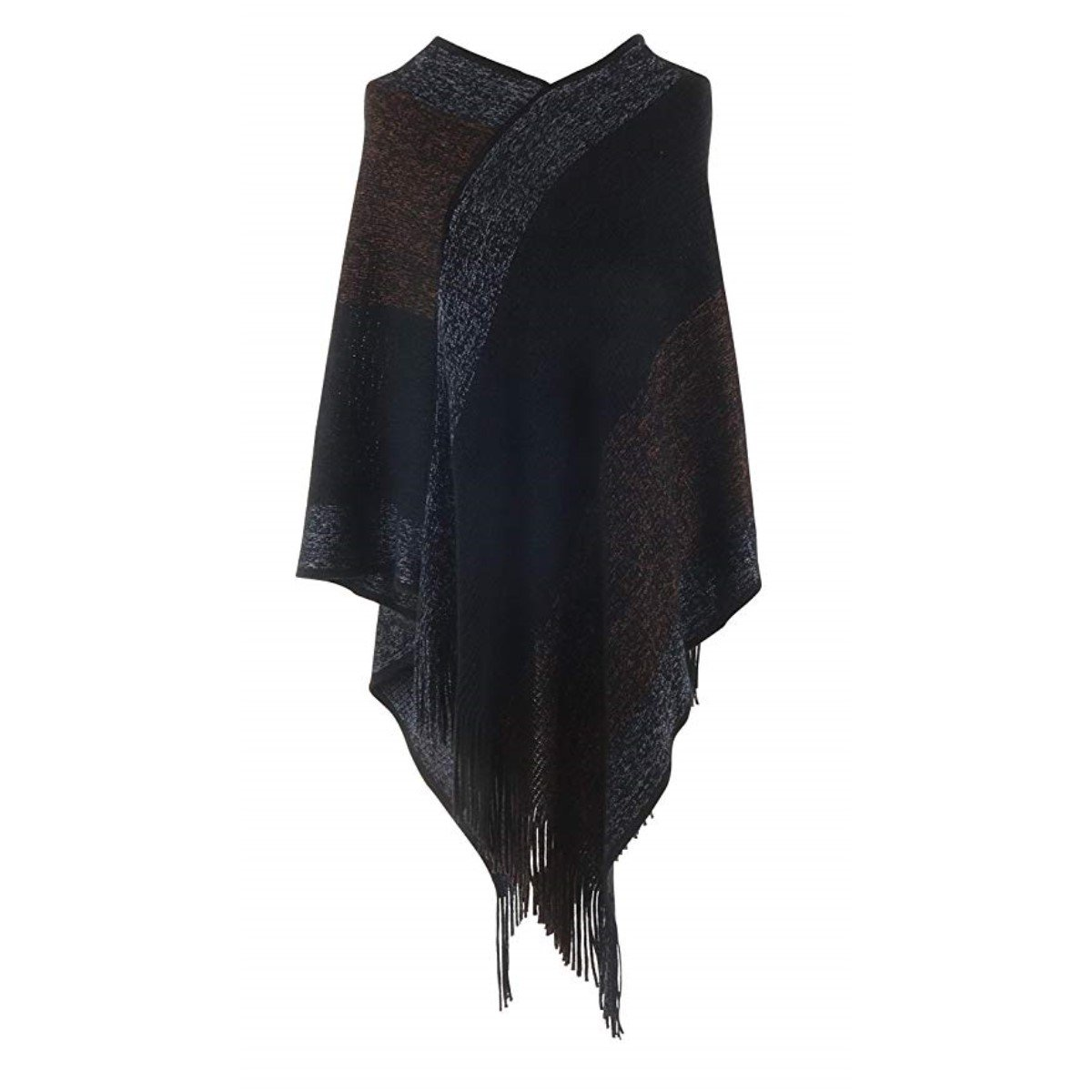 Marled Knit Poncho