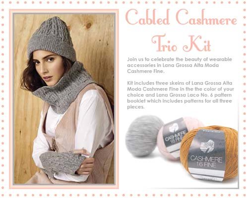 Cabled Cashmere Trio Kits