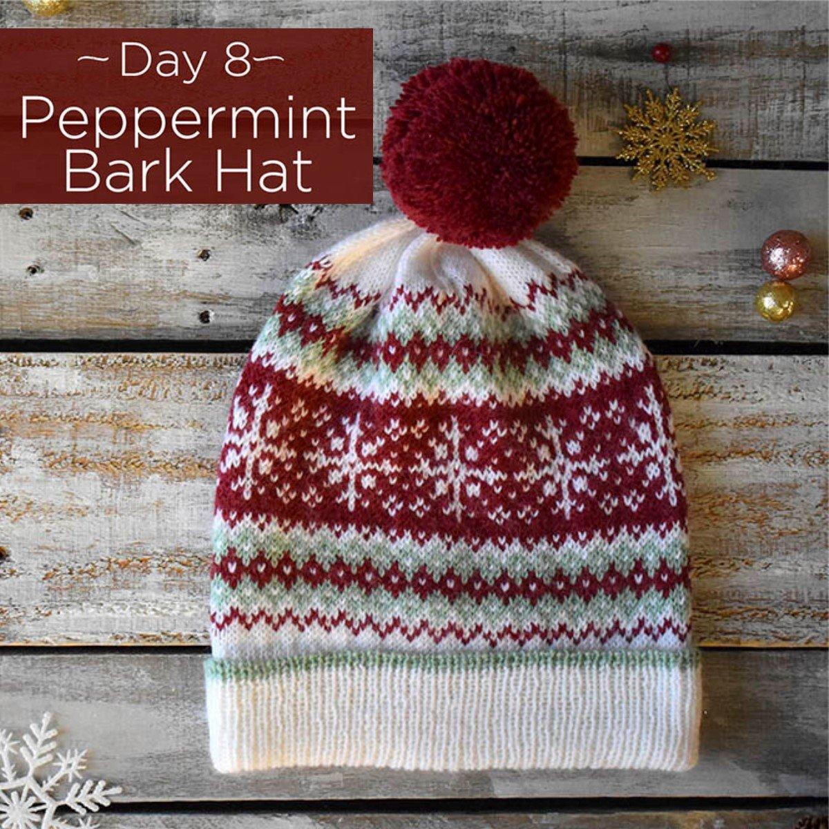 Peppermint Bark Hat Kit - Day 8