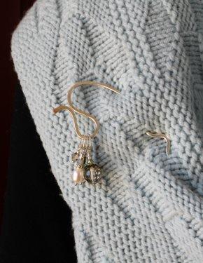 Luxury Stitch Marker Hammered Shawl Stick