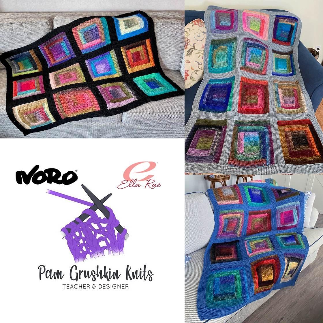 Noro Log Cabin Blanket Kit