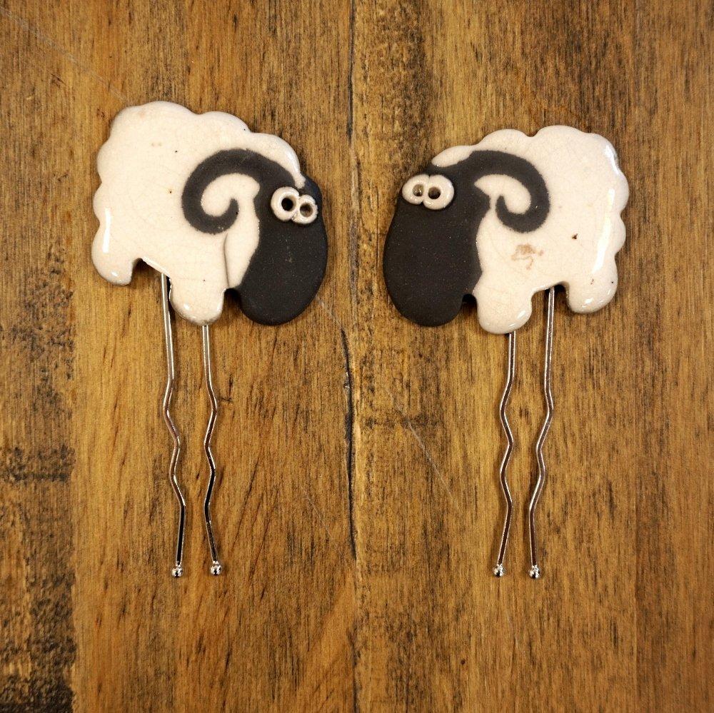 Lamb Kabob Fork Shawl Pin