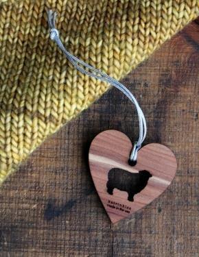 Cedar Heart Charms