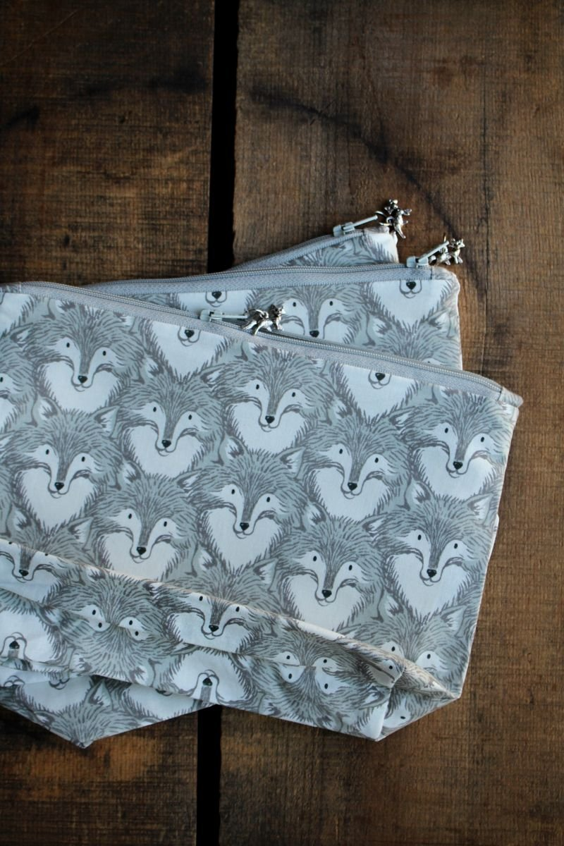 Woodland Animal Project Pouches
