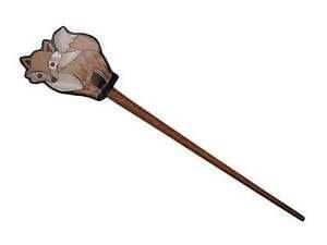 Inlaid Shell Fox Shawl Stick