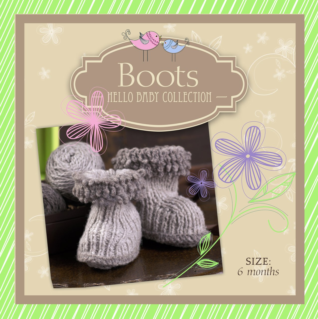 Hello Baby Wool Boots