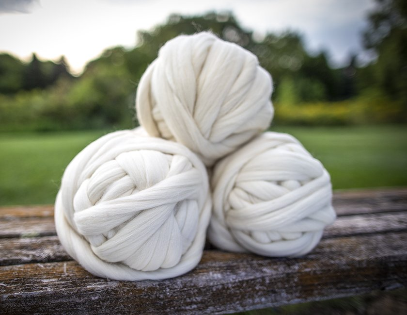 Undyed Wool Roving