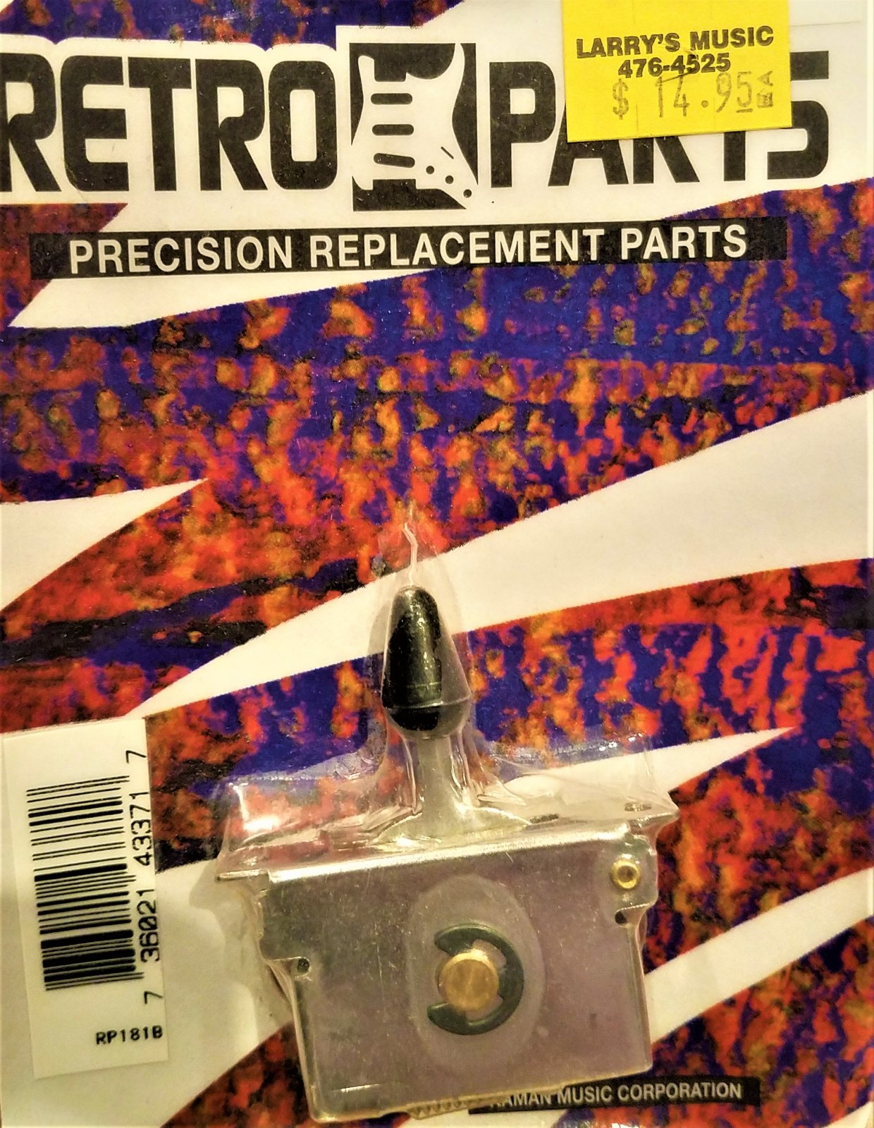 Retro Parts 3 Way Switch W Black Knob 736021433717 Three Red