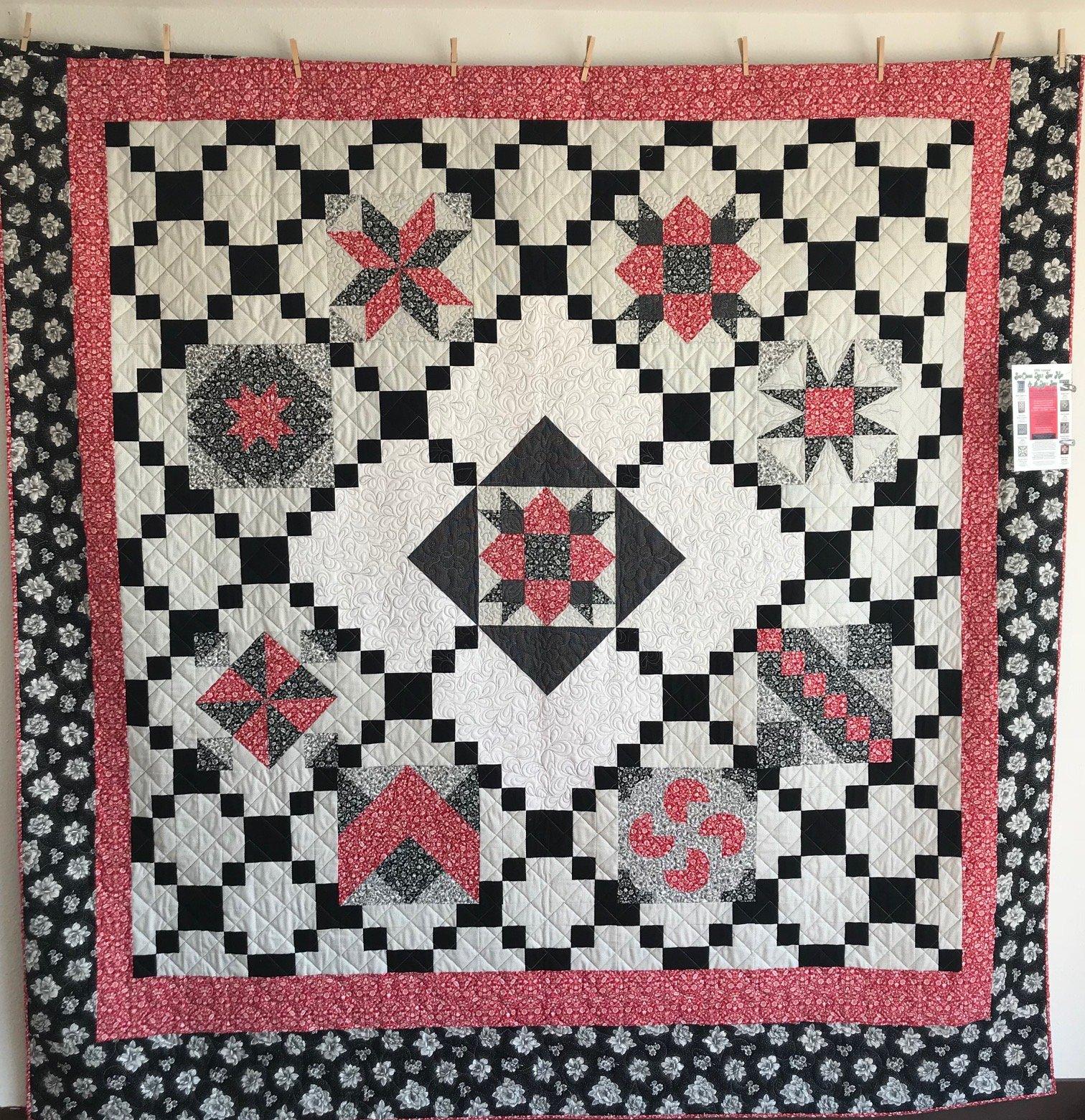 Red and Black Sampler 89x96