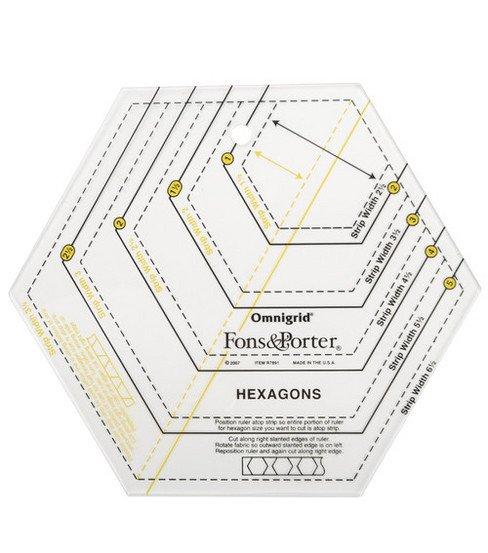 Fons & Porter Hexagon Ruler